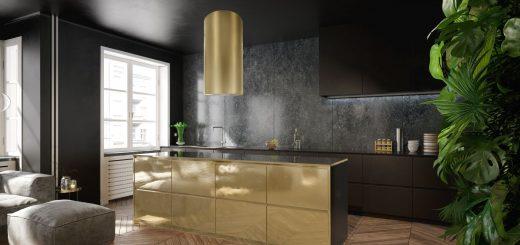 okap kuchenny cylindro gold